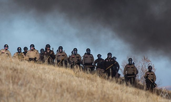 To clear the way for a pipeline, North Dakota invoked a measure reserved for state emergencies like natural disasters. That's one answer.