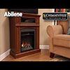 """50"""" Abilene Electric Fireplace in Embossed Oak at Menards®"""