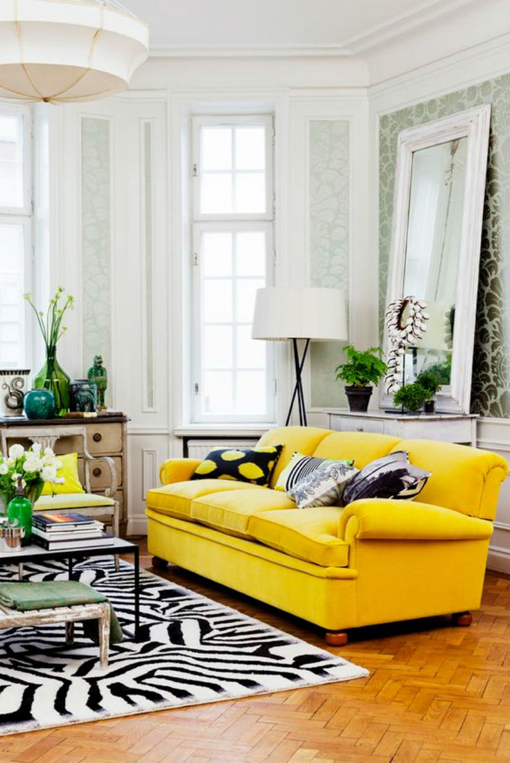 51 best Yellow Sofa images on Pinterest | Living room ideas, Modern ...