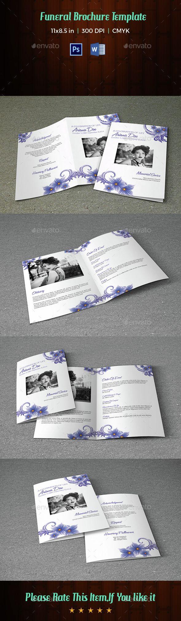 Mejores 30 imágenes de Funeral/Memorial Programs Templates en ...