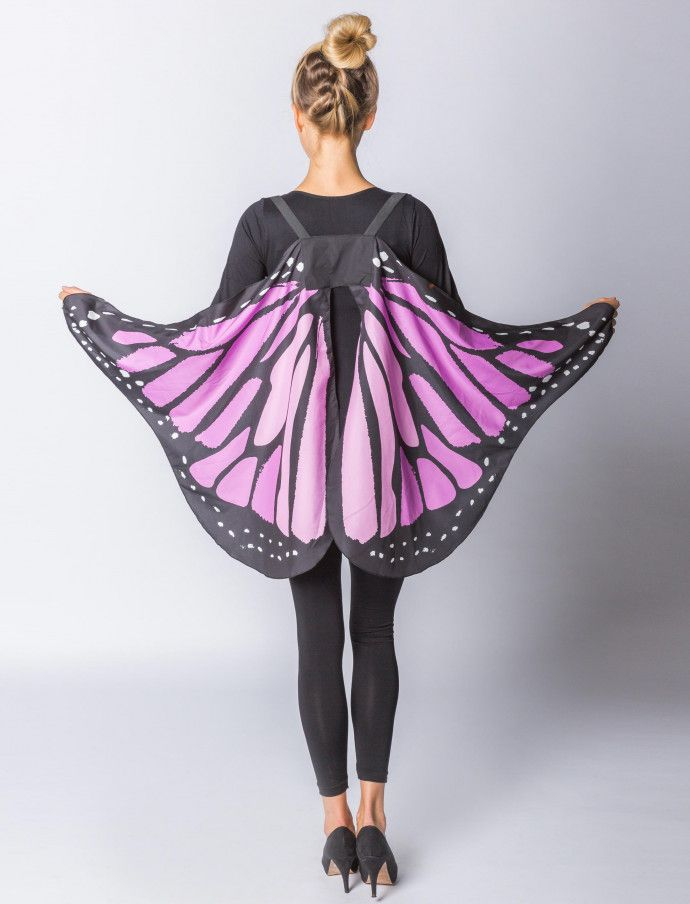 Butterfly wing purple 143x65cm | Deiters | Costume | Carnival | Carnival | Outfit | Theme Party | Butterfly | group