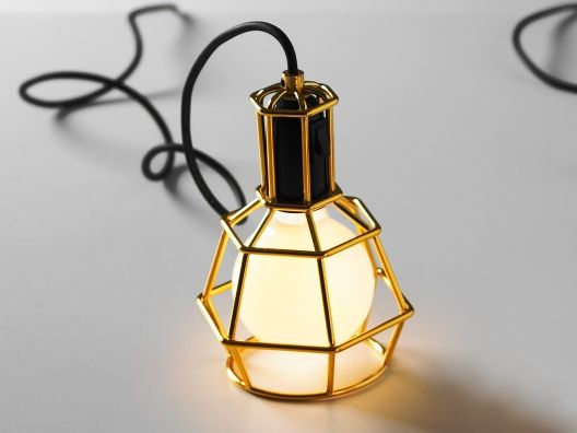 LightDiy Ideas, Work Lamps, Modern Industrial, Black Gold, Gold Accent, Pendants Lights, Industrial Design, Gold Lamps, Gold Work
