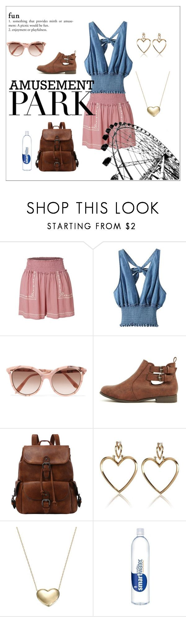 """Untitled #25"" by dreamscout ❤ liked on Polyvore featuring LE3NO, Victoria Beckham, Signature Gold, amusementpark and 60secondstyle"