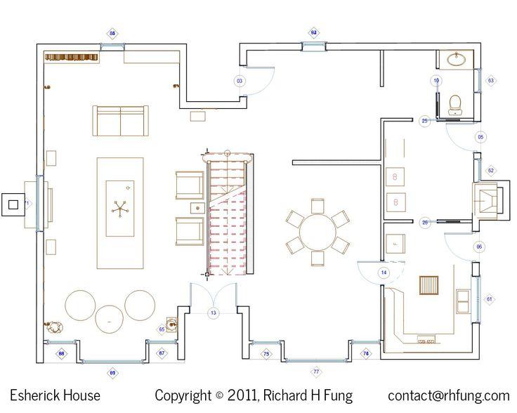 Amazing Esherick Haus Grundriss 1F | TS2 | Pinterest | Esherick House And House