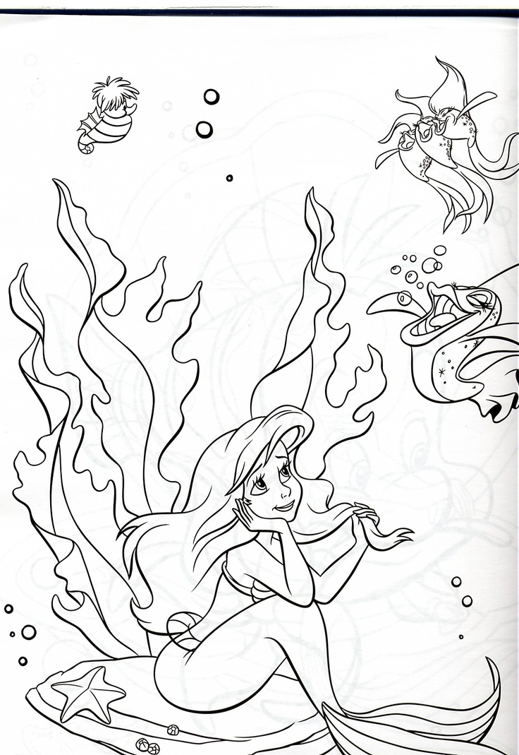 Disney under the sea coloring pages - Under The Sea