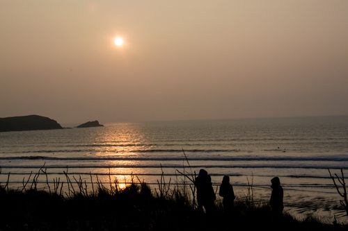Maiden in Cornwall - Fistral Lovin' - Sunset at Fistral