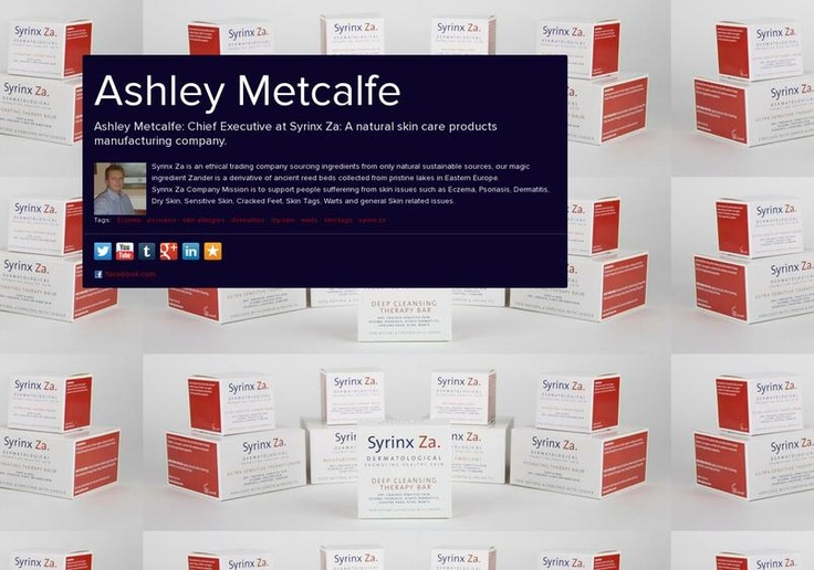 Ashley Metcalfe's page on about.me – http://about.me/SyrinxZa