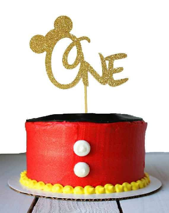 Mickey Mouse Youre Looking At A Listing For A Mickey Mouse Cake Topper Made With Cardstock It Mickey Birthday Cakes Mickey Birthday Mickey Mouse 1st Birthday