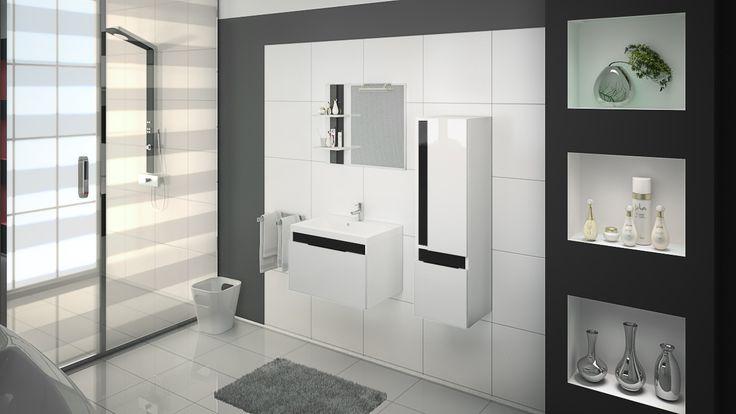 Biel waro przełammać kontrastująca czernią by uzyskać efekt klasyki i elegancji.