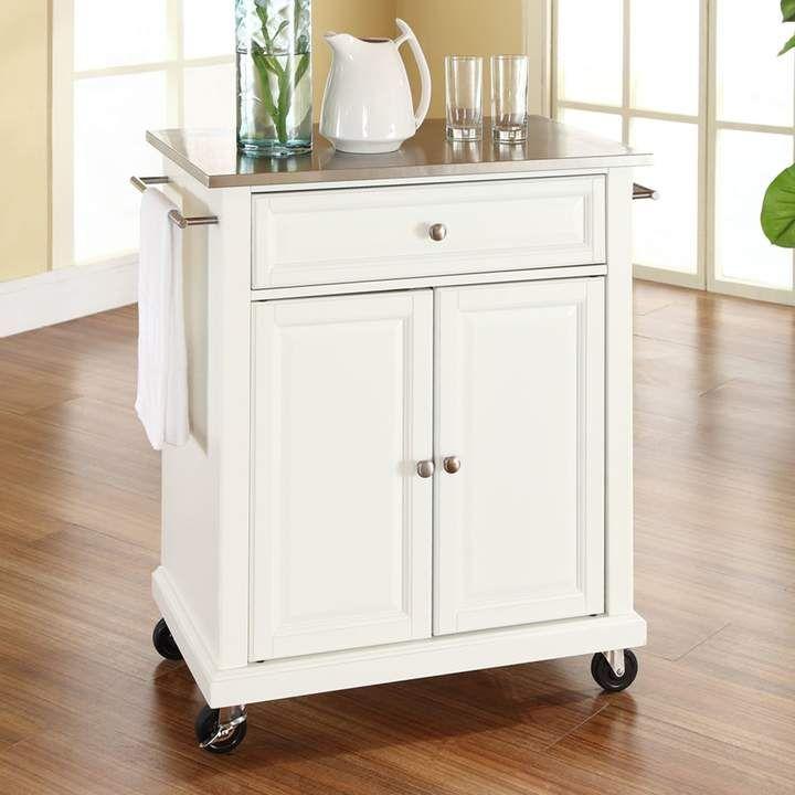 Crosley Furniture Stainless Steel Top Kitchen Island Cart Vestito Grigio Grigio