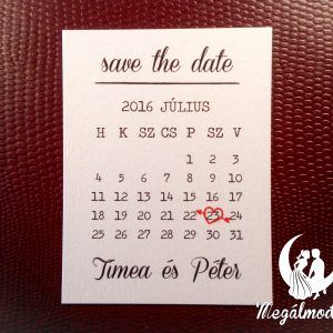 Save the Date kártya  #esküvő #savethedate #papír #kártya #egyedi #wedding #paper #unique #calendar