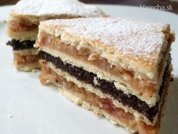 Fluden, makovo-jablčný koláč (fotorecept)