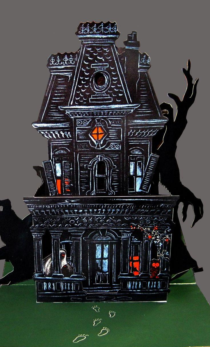1960s halloween decorations - Hallmark Haunted House Table Decoration 1960s
