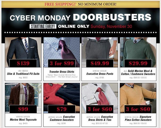 Jos A Bank Cyber Monday Doorbusters 2014