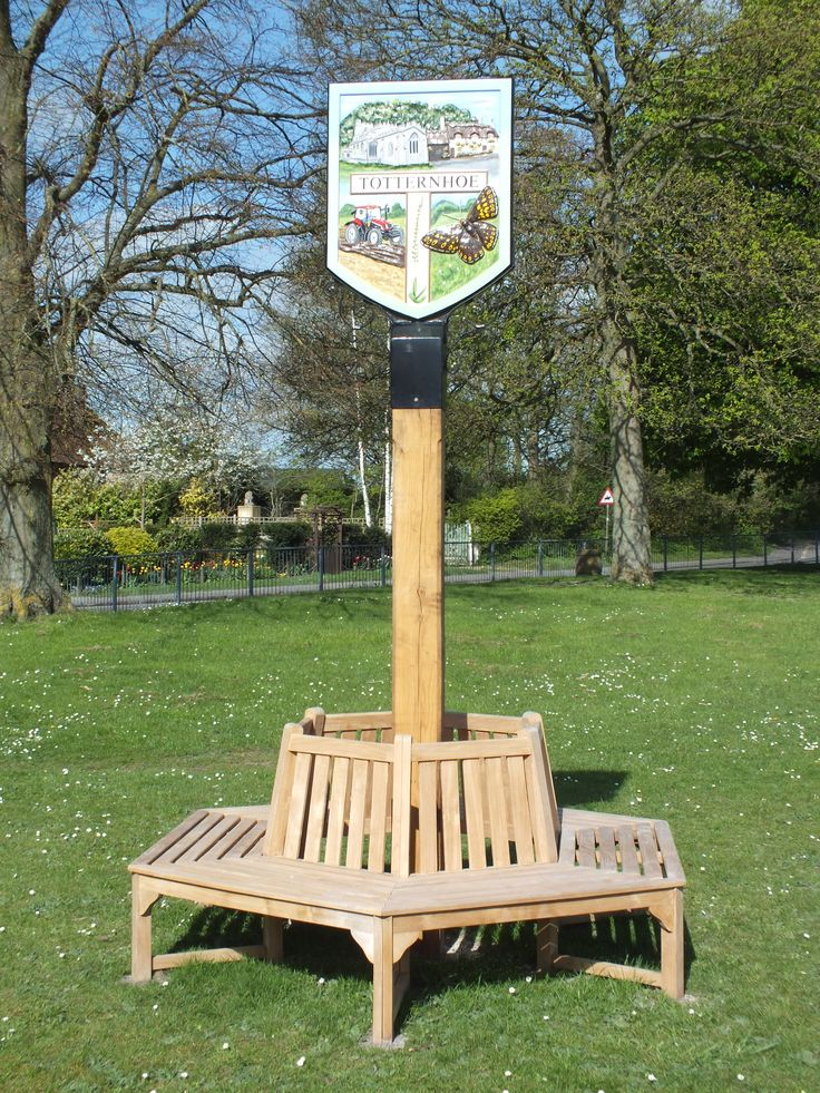 the new village sign