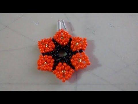DIY. Flor de bolitas, para pendientes, anillos, pulseras. - YouTube