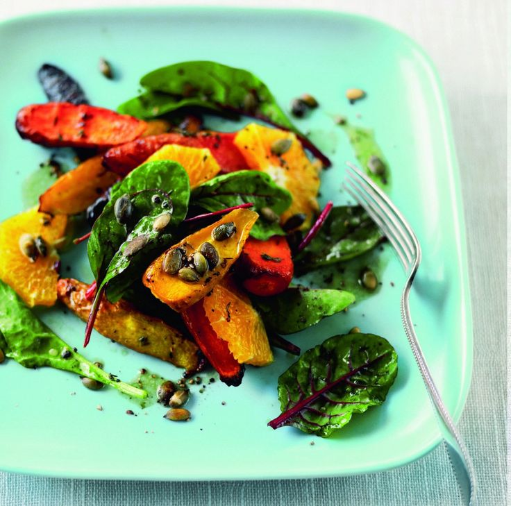 Rustik vintersalat med gulerødder