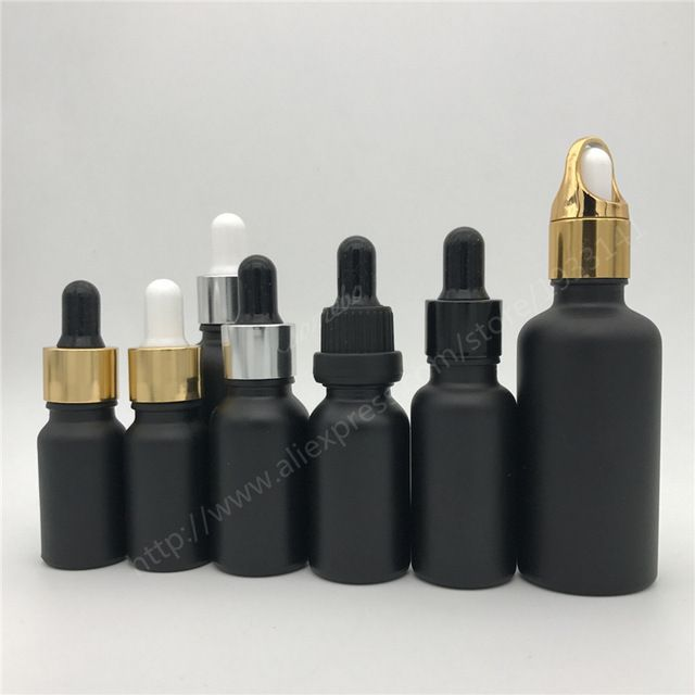 10ml 15ml 20ml 30ml Black Glass Bottle With Dropper Matt Black Glass Dropper Bottle Review Glass Dropper Bottles Bottle Glass Bottles
