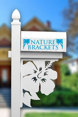 Hibiscus Flower Mailbox or Porch Corner Bracket | NatureBrackets.com