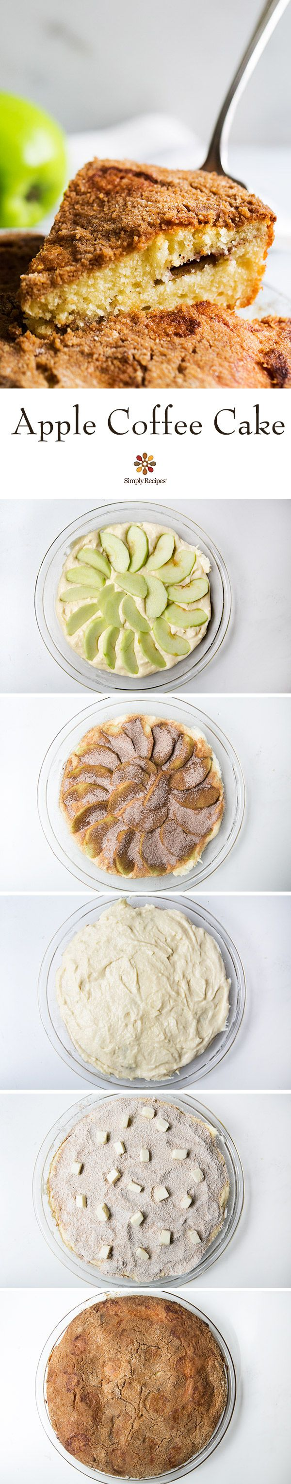 Apple Coffee Cake that's quick, easy, and delicious! Perfect for a Sunday brunch or with your morning coffee. On SimplyRecipes.com