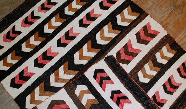 Alfombra hecha a mano antiguo Navajo Americano -decoración del hogar en DaWanda.es