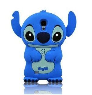 Blue Cute Stogdill 3D Cartoon Stereoscopic Stitch Samsung Case Skin Cover for Samsung Galaxy S4 i9500 SIV