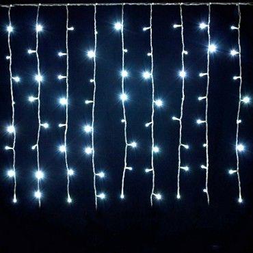 TENDA LUMINOSA DI NATALE LED 160 LUCI BIANCO PER INTERNO ESTERNO 24V 200X90 CM-160 LED + FLASH