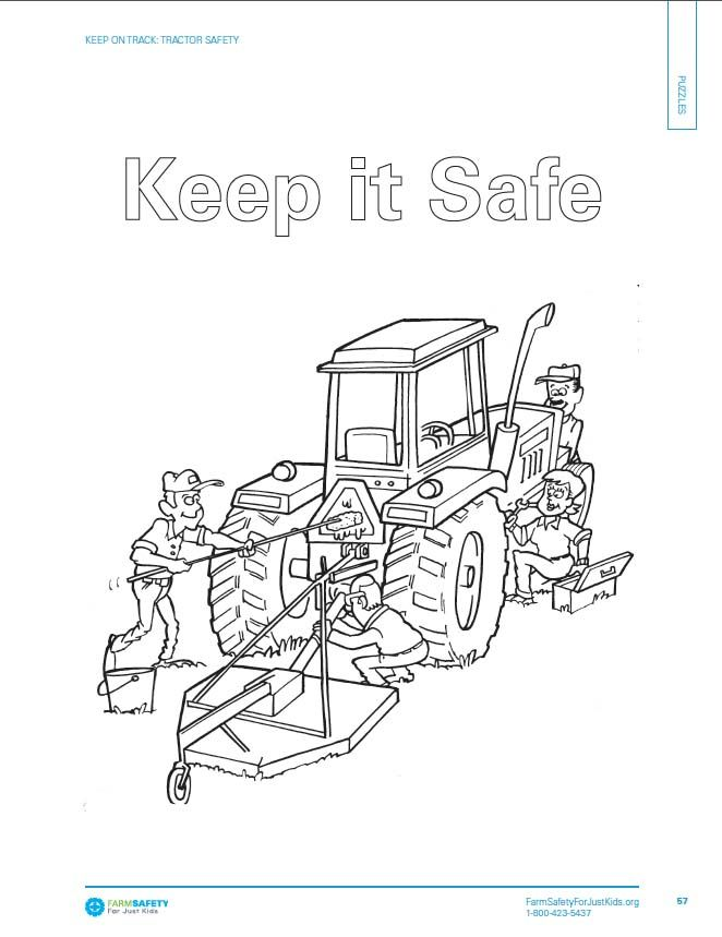 safety gear coloring pages - photo#7