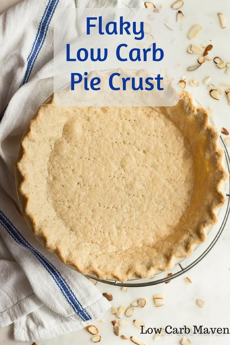 A low carb pie crust recipe with almond flour that's truly flaky. Perfect for low carb pies and savory quiche. This recipe is low carb, gluten free, sugar-free and vegetarian.