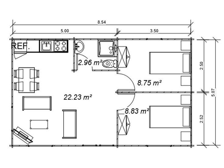 Plano 3 casa de madera heidi casas pinterest madeira - Casas de madera planos ...