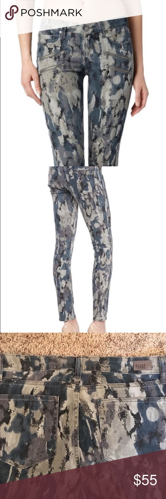 Paige Edgemont camo jeans Camouflage skinny jeans PAIGE Jeans Skinny