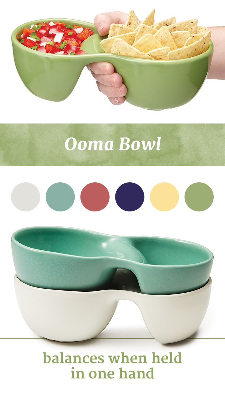 A perfect bowl to keep food separate, so you can enjoy your chips and salsa or rice and curry without any unintentional mixing. Plus, it balances when held in one hand, and keeps your wrist in a comfortable, neutral position. What a unique housewarming gift.