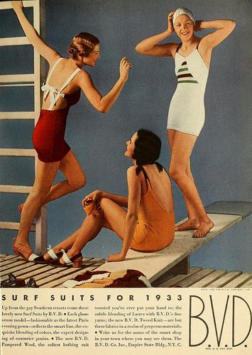 Surf Suits for 1933 by BVD, July 1933 | by The Bees Knees Daily