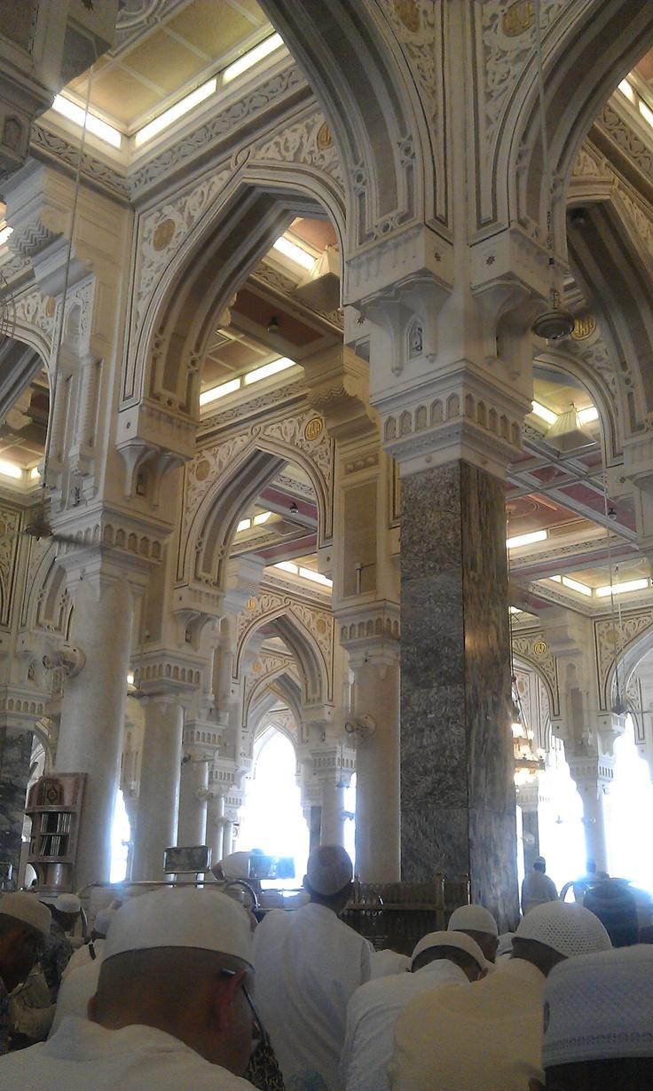 Interior da Mesquita Al Haram - Cidade Mecca - Arábia Saudita.