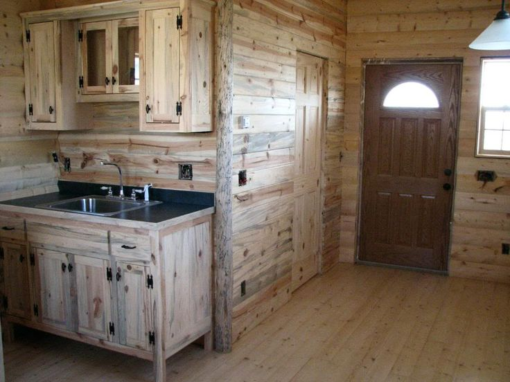 17 best ideas about small cabin interiors on pinterest for Pine kitchen furniture