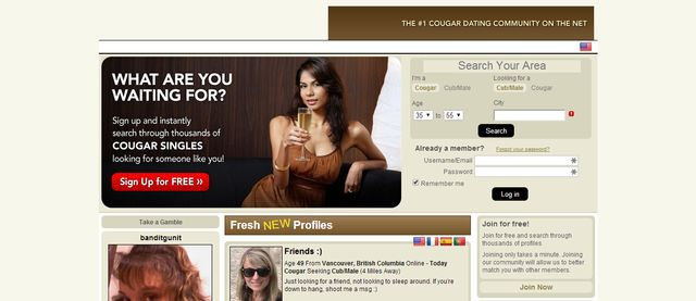 faith cougars dating site It gets 9/10 for cheering me up and regaining my faith dont want to leave as this is the first online dating site that a lot of cougars on the site.