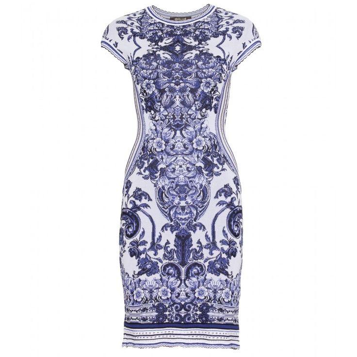 Roberto Cavalli dress Delfts blauw