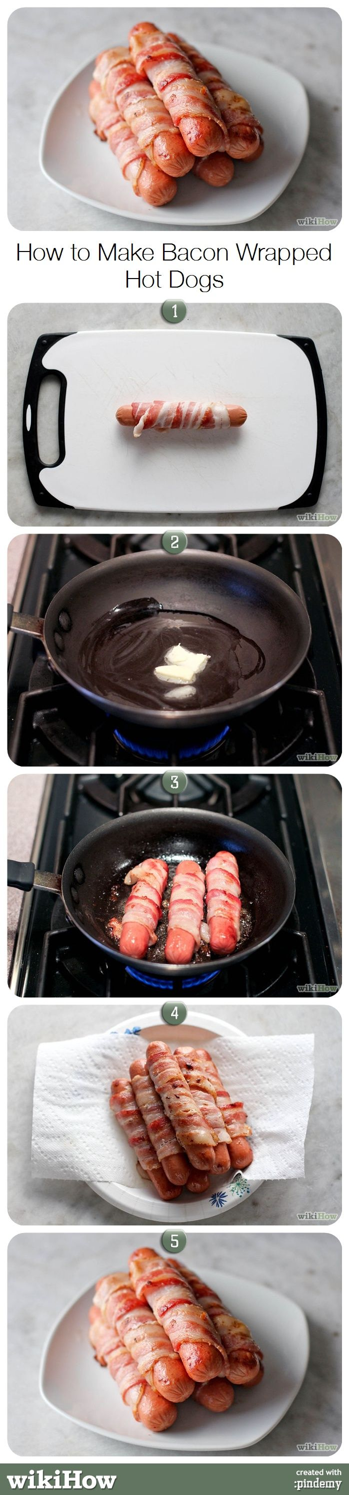 How to Make Bacon Wrapped Hot Dogs