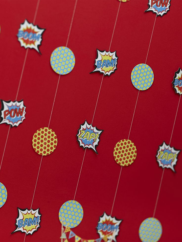Pop Art Superhero Hanging Decorations