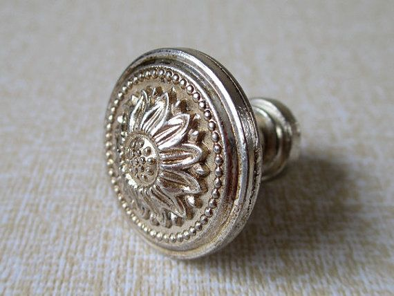 small knobs dresser knobs drawer pulls knobs handles flower antique silver kitchen cabinet
