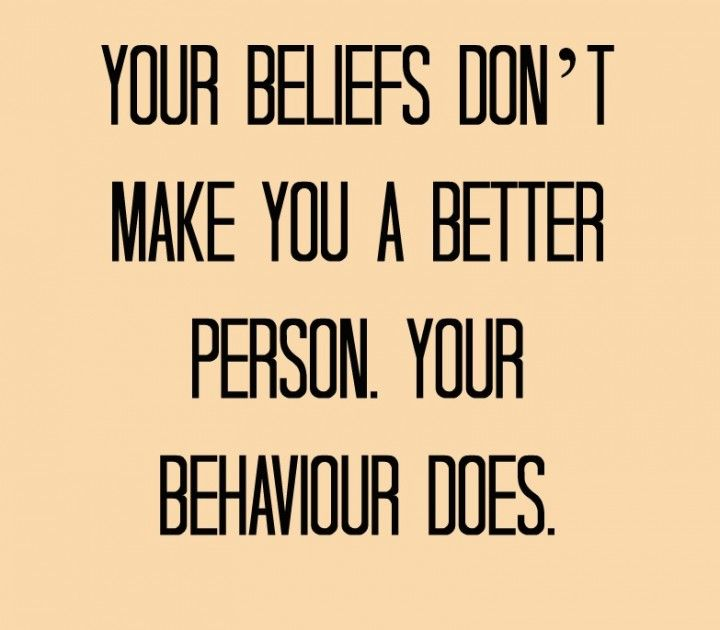 I think a lot more people need to understand this. It's great you have beliefs but if your beliefs make you think your better than me then you're not.