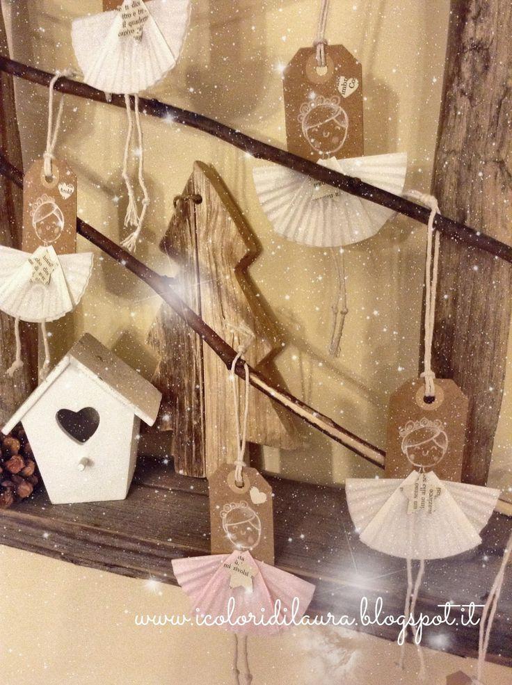 Angel's tag da realizzare da sole o con i bambini, bellissimi per chiudere i pacchetti regalo o fantastici decori per l'albero