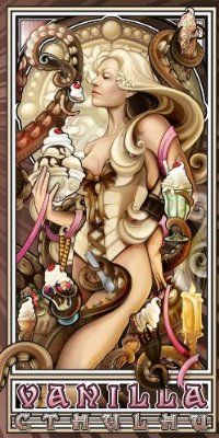 """Vanilla Ice Cream Cthulhu"" 12x24 Archival Print:"