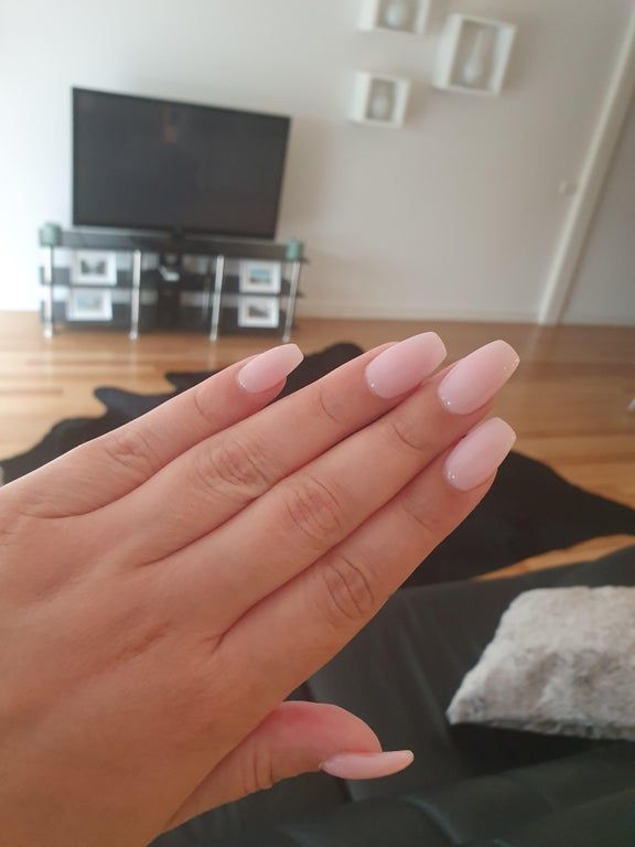 Sns On My Real Nails Nails In 2020 White Shellac Nails Summer Gel Nails Natural Nails Manicure
