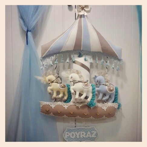 Carausel  bebek kapi süsleri  melegineli