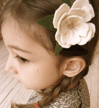 Flower in little girls hair with side braid http://instagram.com/sparklysodastyle