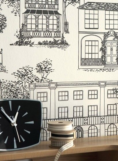 Hausmotive: Tapete Hampstead von Little Greene