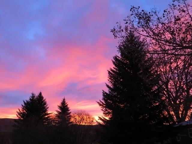 Wyoming, red sky at morning