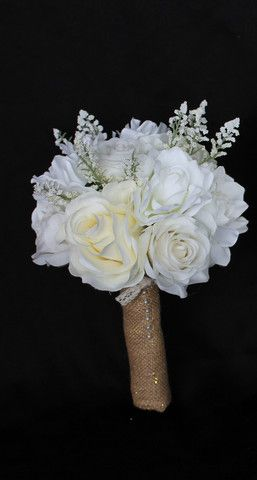 Baby's Breath, Roses and Magnolia's Wedding Bouquet Collection http://eweddingssecrets.com/