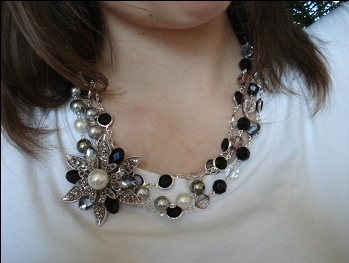 Opulence with Pearls Night Out pin. Love this combo!